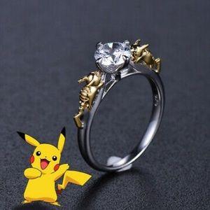 Jewelry - Silver Topaz Pikachu Ring